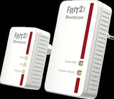 AVM FRITZ!Powerline 540E WLAN Set Rot